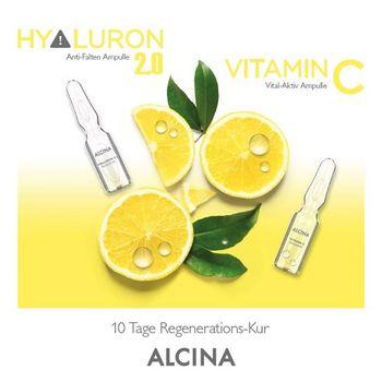 Alcina Hyaluron 2.0 / Vitamin C - Ampullen-Kur - 10x1ml - Geschenkverpackung JUST FOR YOU – Bild 3