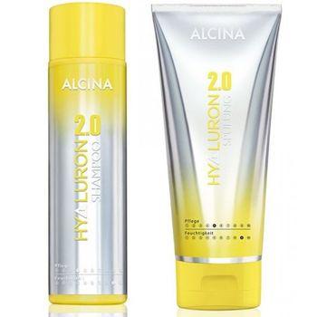 Alcina Hyaluron Set - 2.0 Shampoo 250 ml +  2.0 Spülung 200 ml – Bild 1