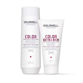 Goldwell Dualsenses Color Travel Set Shampoo 100ml + Treatment 50ml + gratis Kosmetiktasche – Bild 2