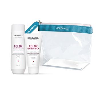 Goldwell Dualsenses Color Travel Set Shampoo 100ml + Treatment 50ml + gratis Kosmetiktasche – Bild 1