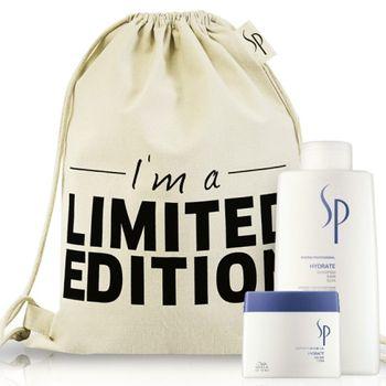 Wella SP System Professional Hydrate Geschenkset Shampoo 1000 ml +  Mask 400ml + Rucksack gratis – Bild 1