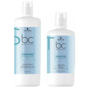 Schwarzkopf BC Hyaluronic Moisture Kick Micellar Shampoo 1000 ml + Treatment 750 ml – Bild 1