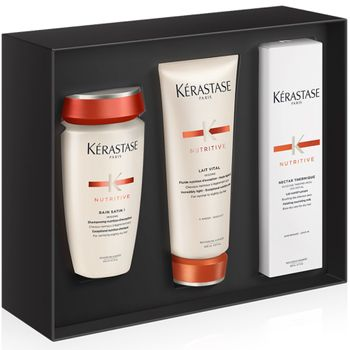 Kérastase Nutritive Xmas-Set - Bain Satin 1 250 ml + Nectar Thermique 150 ml + Lait Vital Pflege Creme 200 ml – Bild 1