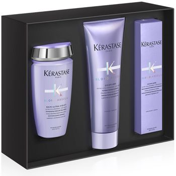 Kérastase Blond Absolu Luxuriöses Xmas Set - Bain Ultra-Violet 250ml + Cicaflash 250 ml + Cicaplasme 150 ml