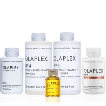 Olaplex Set - Hair Perfector No. 3 + Shampoo No. 4 + Conditioner No. 5 + Bond Smoother No. 6 + Bonding Oil No.7