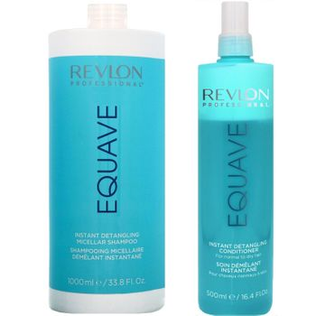 Revlon Equave Instant Beauty Hydro Nutritive Detangling Shampoo 1000 ml + Hydro Detangling Conditioner 500ml