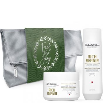 Goldwell Dualsenses Rich Repair Geschenkset - Shampoo 250ml + Treatment 200 ml + Kosmetiktasche gratis – Bild 1