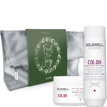 Goldwell Dualsenses Color Brilliance Geschenkset - Shampoo 250 ml +Treatment 200 ml + Kosmetikbeutel gratis – Bild 1
