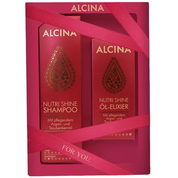 Alcina Nutri Shine Geschenkset -  Shampoo 250 ml + Öl-Elixier 50 ml – Bild 1