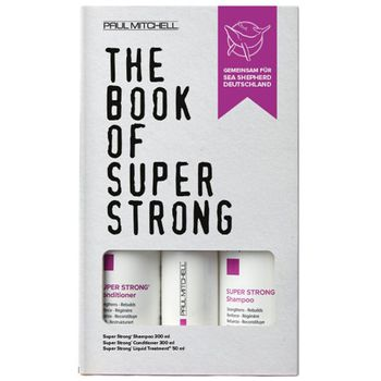 Paul Mitchell The Book of Strong - Shampoo 300ml + Conditioner 300ml + Liquid Treatment 50ml