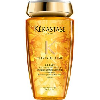 Kérastase Elixir Ultime Xmas Set Shampoo 250 ml + L'Huile Original 100 ml + Duftkerze – Bild 3