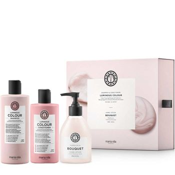 Maria Nila Luminous Colour Geschenkset - Shampoo 350 ml + Conditioner 300 ml +  Handlotion gratis – Bild 1