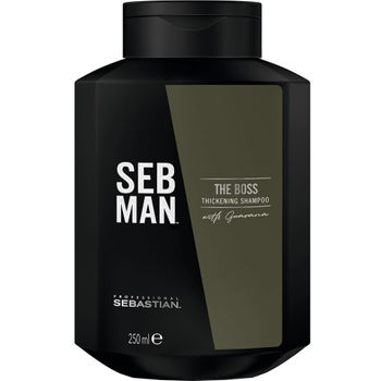 Sebastian SebMan The Boss Thickening Shampoo 250 ml + The Booster Tonic 100 ml + The Boss Thickening Shampoo 50 ml gratis – Bild 2