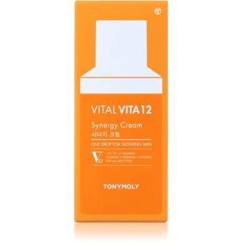 TonyMoly Vital Vita 12 Synergy Cream 50 ml - Feuchtigkeitscreme – Bild 2