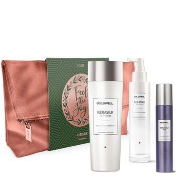 Goldwell Kerasilk Revitalize Geschenkset - Shampoo 250 ml + Serum 100 ml + Texturizing Finish Spray 75 ml – Bild 1