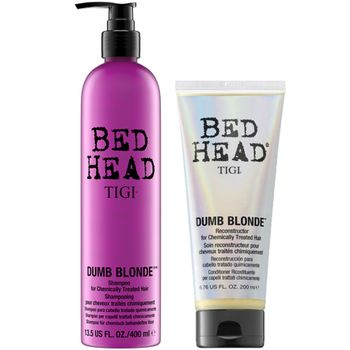 Tigi Bed Head Dumb Blonde Geschenkset - Shampoo 400 ml + Conditioner 200 ml – Bild 1