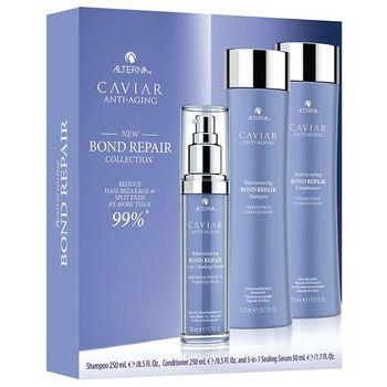 Alterna Caviar Anti-Aging Restructuring Bond Repair Starter Kit - Shampoo 250 ml + Conditioner 250 ml + 3-in-1 Sealing Serum 50ml – Bild 1