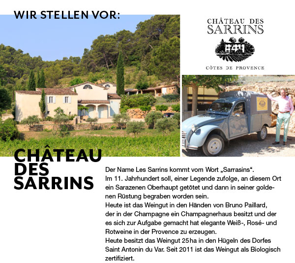 Chateau-des-Sarrins Champagne Bruno Paillard