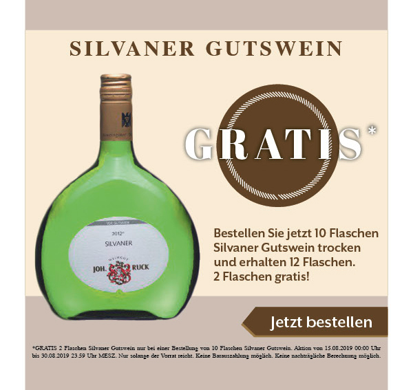 Silvaner Gutswein trocken - Johann Ruck - Weißwein