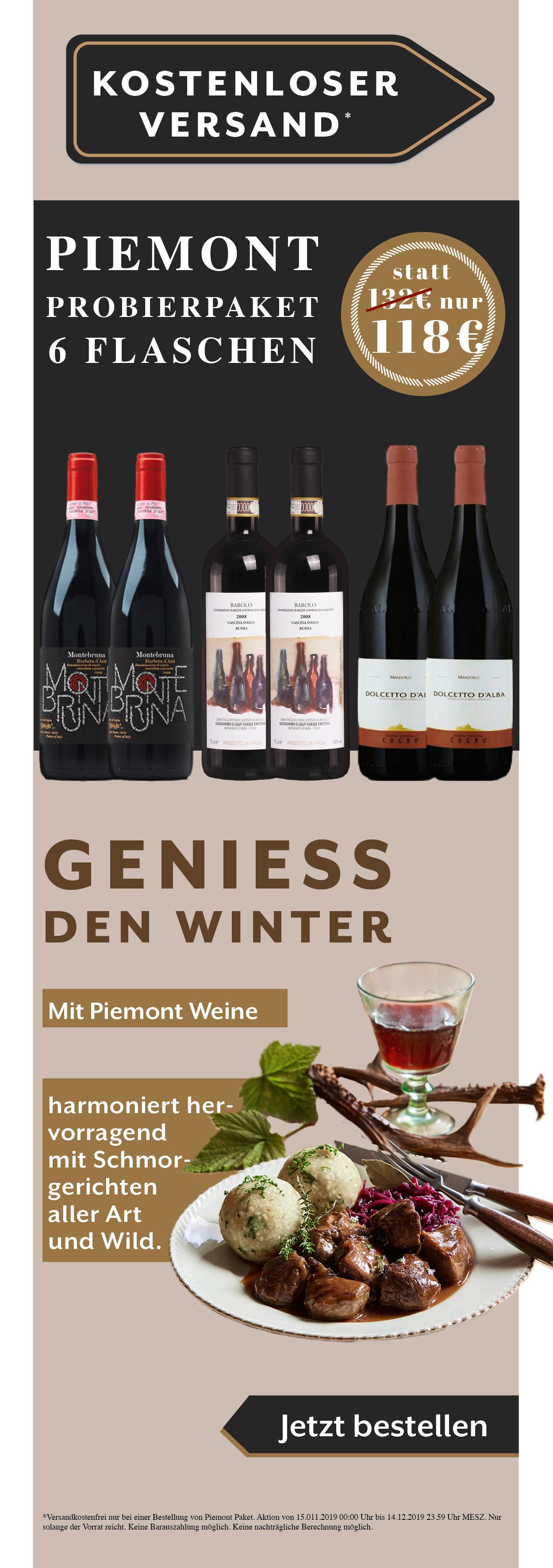 Piemont Weine Probierpaket