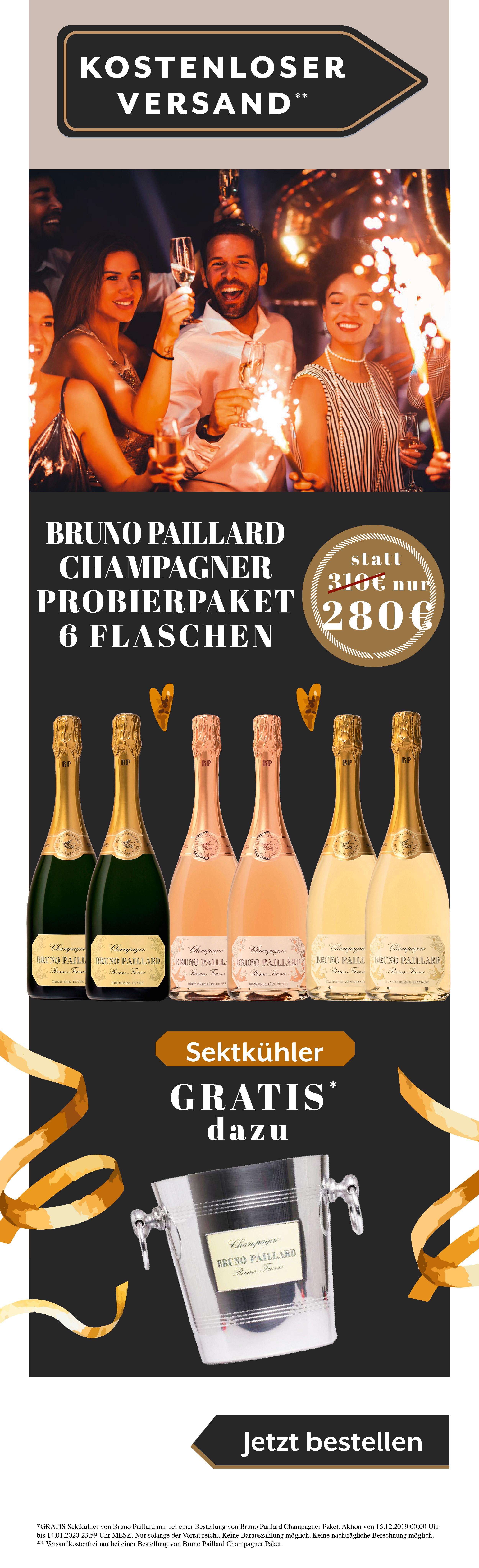 Bruno Paillard Champagner Silvester Weihnachten Weihnachtsgeschenk