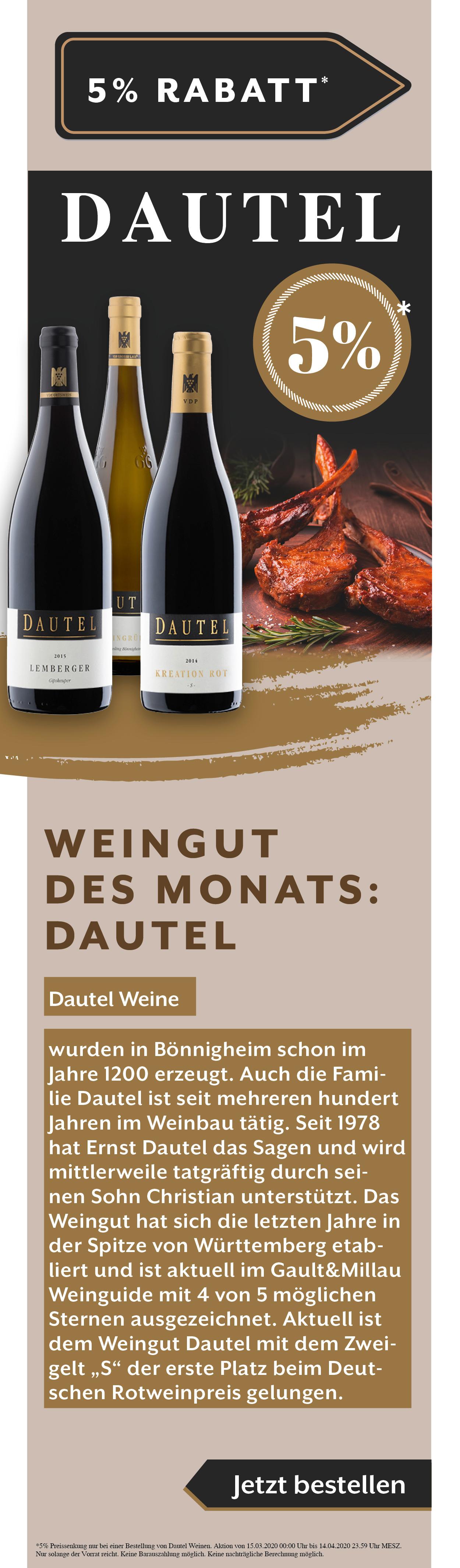 Dautel Rabatt Aktion Rotwein Weißwein