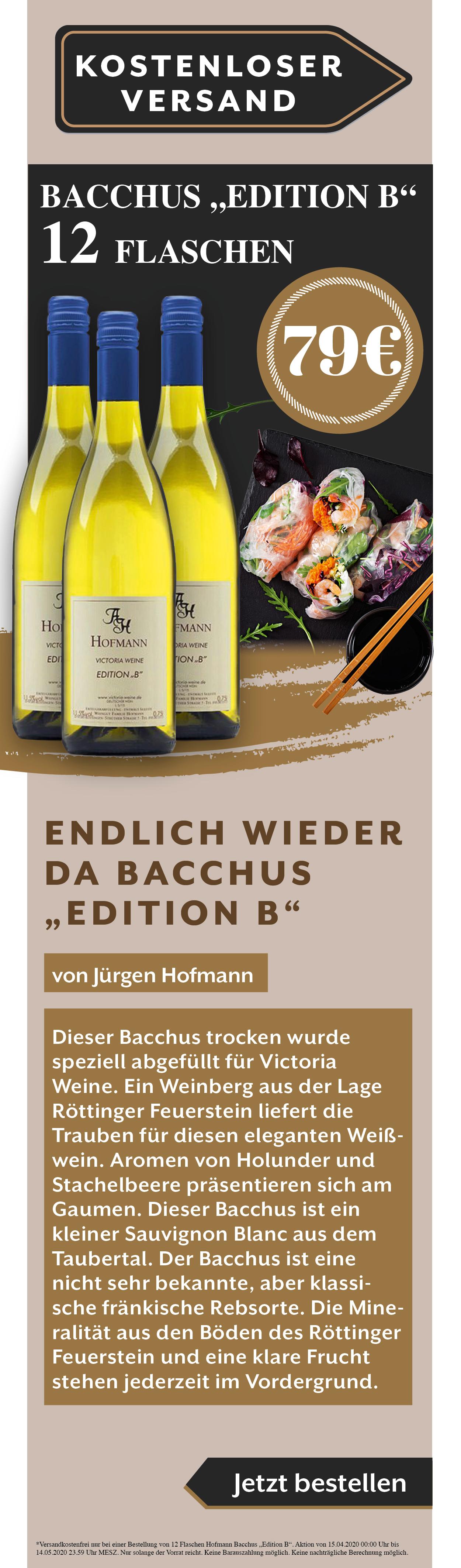 Juergen Hofmann Bacchus EditionB Weißwein Angebot