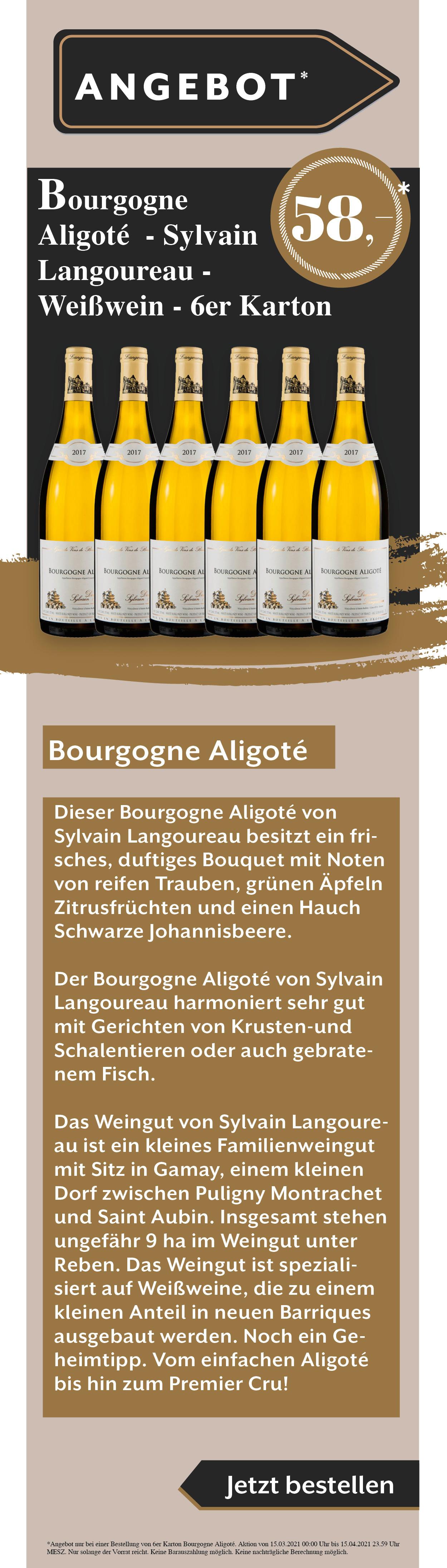 Wein Sylvain Angebot Rabatt Weißwein Rotwein Rose Bourgogne Aligote Osterangebot Ostern
