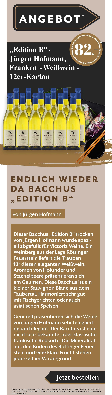 Wein EditionB Angebot Rabatt Weißwein Rotwein Rose Juergen Hofmann Gault Millau Weinguide