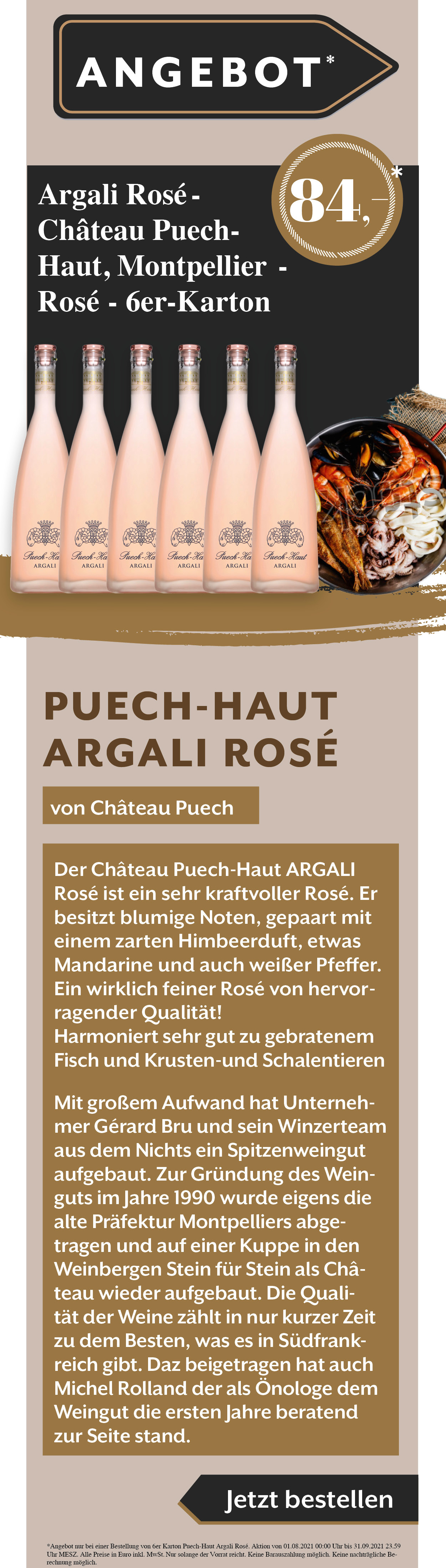 Wein Puech Haut Angebot Rabatt Weißwein Rotwein Rose Argali Gault Millau Weinguide