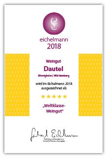 Dautel Eichelmann 2018 Auszeichnung