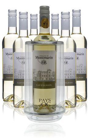 7 Flaschen 2018 Sauvignon + Kühler - Domaine de Montmarin - Weißwein
