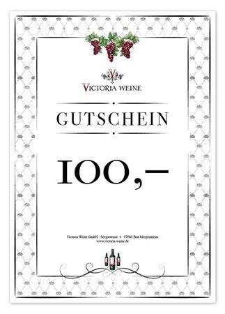 Gutschein Victoria Weine 100,-