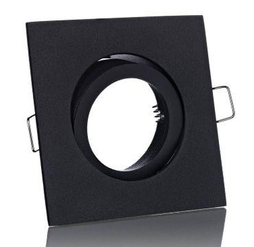 5er Set Einbaustrahler eckig schwarz