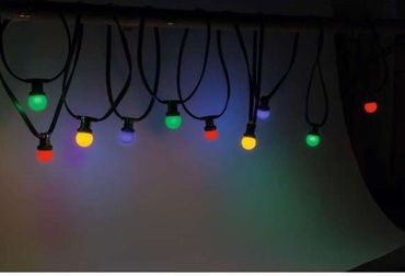 LED PARTY LICHTERKETTE RAINBOW 10-TEILIG 10m