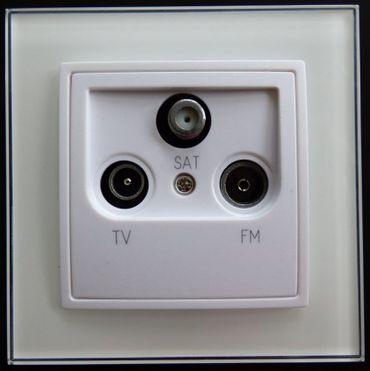 Abelka Nuovo Glas 1 x Antennendose TV-SAT-Radio weiß