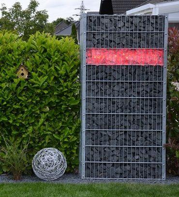110 cm  RGB + Kaltweiß + Fernbedienung LED Beleuchtung für Gabionen 360°-Copy