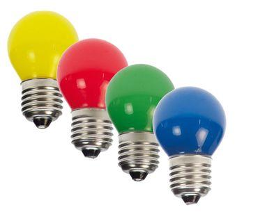 14er Set LED Tropfen  Lampe E27 230V rot gelb grün blau gemischt