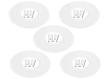 [Paket] 6 x LED Einbaustrahler Ausgleichsblende ~ Lochverkleinerung Einbauleuchte weiss