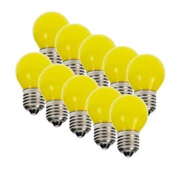 [Paket] 10er Set LED Tropfen gelb Tropfenlampe Glühlampe E27 1W Lichterkette 230V  #47