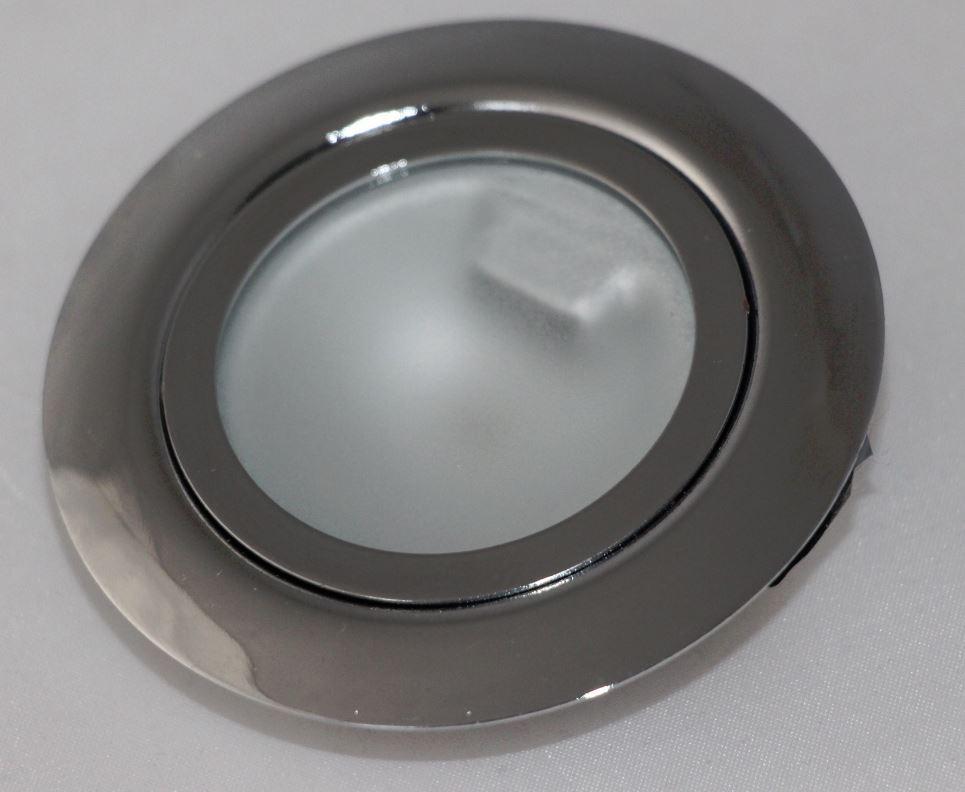 3er Set Möbeleinbaustrahler Metall 12V G4 eisengebürstet für 12V rund starr  #10