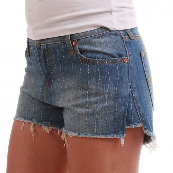 Levis Shorts Women - PICK STITCH SHORT 31687-0001 - Blue – Bild 1
