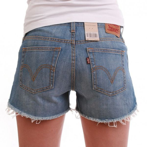 Levis Shorts Women - PICK STITCH SHORT 31687-0001 - Blue – Bild 5