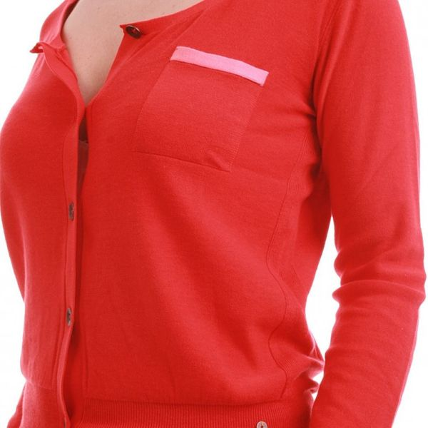 Levis Cardigan Women - COLORBLOCK 31658-0003 - Red – Bild 3