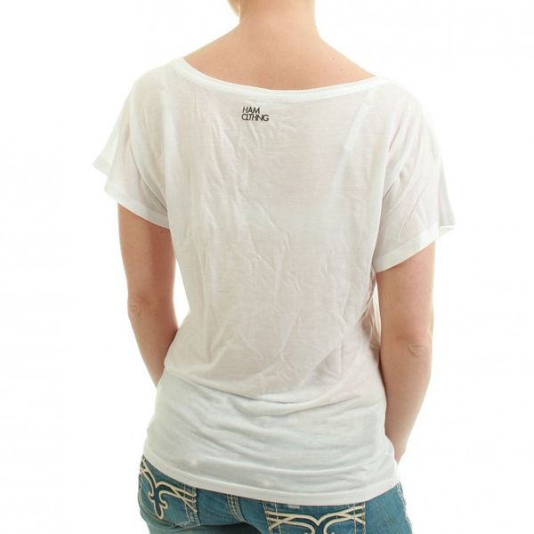 HAM CLTHNG T-Shirt Women - NO.8 GHETTO GARCON - White – Bild 2