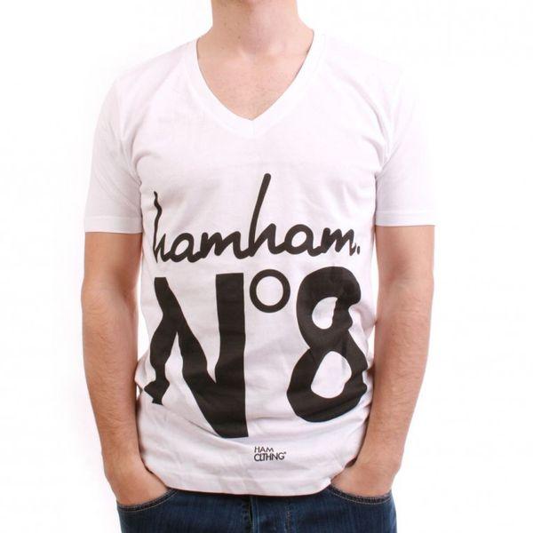 HAM CLTHNG T-Shirt Men - NO.8 HAMHAM - White – Bild 1