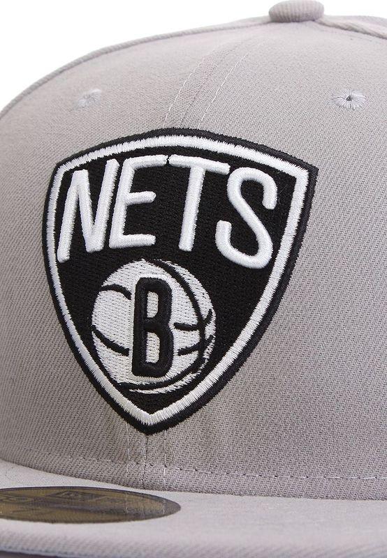 New Era 59Fiftys Basic Cap - BROOKLYN NETS - Grey – Bild 3