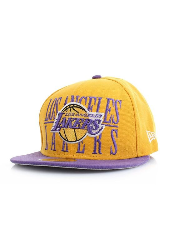 New Era 59Fiftys Step Over Cap - LA LAKERS - Yellow-Purple – Bild 1