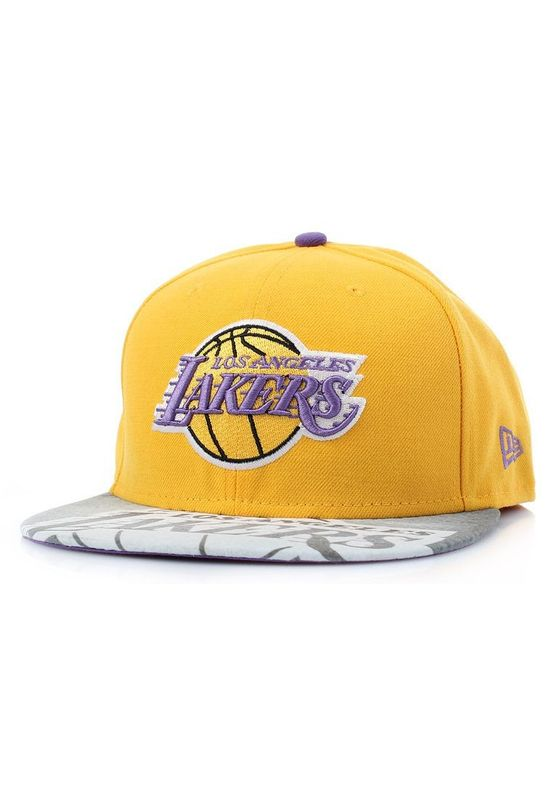 New Era Viza Sketch Cap - LA LAKERS - Yellow-Grey – Bild 1