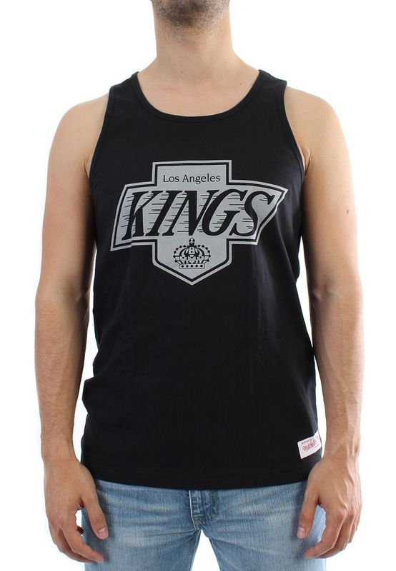 Mitchell & Ness Teamlogo Tank Men - LA KINGS - Black – Bild 1
